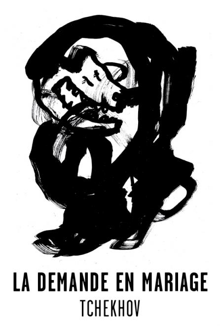 La demande en mariage - Les visuels de Tchekhov 137 évanouissements ont été crées par l'atelier Nous Travaillons Ensemble