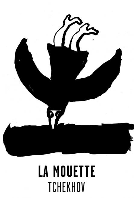 La Mouette - Les visuels de Tchekhov 137 évanouissements ont été crées par l'atelier Nous Travaillons Ensemble